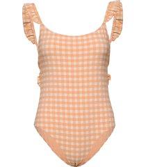 enswordfish swimsuit 5326 baddräkt badkläder orange envii