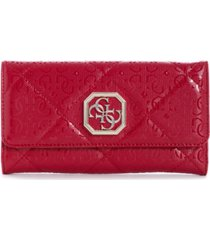guess dilla quilted logo multi clutch wallet