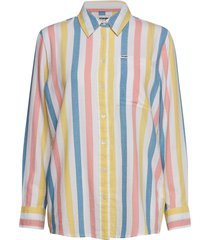deck chair stripe långärmad skjorta multi/mönstrad wrangler