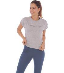 camiseta at home gris - mujer