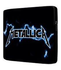 capa para notebook metallica 15.6 à 17 polegadas