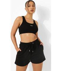 basic sweat shorts, black