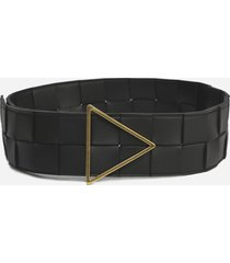bottega veneta black twisted leather belt