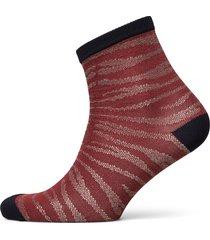 zebra glitzi sock lingerie socks regular socks röd becksöndergaard