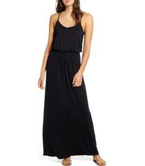 women's all in favor knit maxi dress, size medium - grey