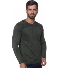 suéter le tisserand side-open stone verde