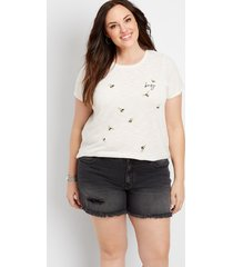 maurices plus size womens kancan™ high rise fray black hem 5in shorts
