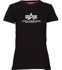 new basic t wmn t-shirts & tops short-sleeved svart alpha industries