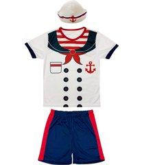 fantasia shorts e camiseta marinheiro douvelin branco