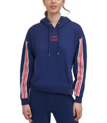 tommy hilfiger sport varsity-stripe hoodie