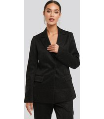 na-kd party glittery blazer - black