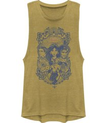disney juniors' aladdin vintage-like aladdin collage festival muscle tank top