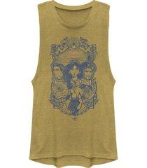 disney juniors' aladdin vintage-like aladdin collage festival muscle tank top