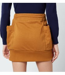 kenzo women's mini skirt - dark beige - l