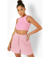 sweat shorts met biezen, light pink