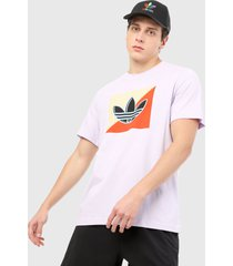 camiseta blanco-amarillo-naranja-negro adidas originals logo diagonal