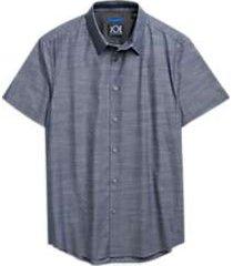 joe joseph abboud repreve® navy blue diamond sport shirt