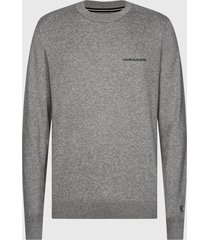 sweater calvin klein jeans gris - calce slim fit