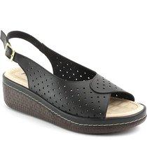 sandalia casual tipo confort para dama 6922282negro