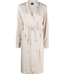 aspesi trench coat-style dress - neutrals