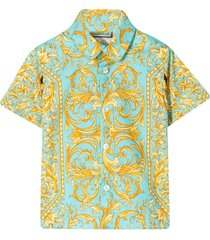 young versace shirt with multicolor baroque press