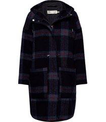 hanaleeiw coat wollen jas lange jas blauw inwear