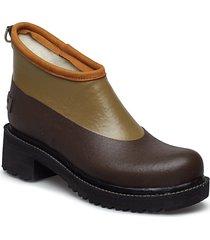 short rubber boot regnstövlar skor brun ilse jacobsen