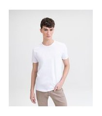 camiseta básica em algodão | request | branco | gg