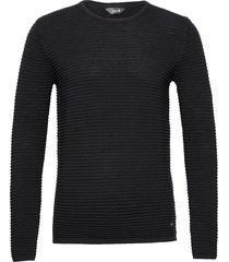6182740, knit - sdstruan stickad tröja m. rund krage svart solid