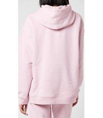 ganni women's software isoli hooded sweatshirt - sweet lilac - l/xl