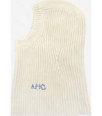 alexander mcqueen snood hat in wool and cashmere with cut-out