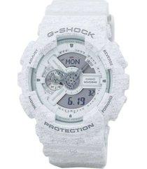 reloj casio ga_110ht_7a blanco resina
