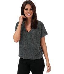 womens githa glitter short sleeve top