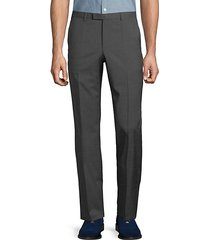 flat front wool trousers
