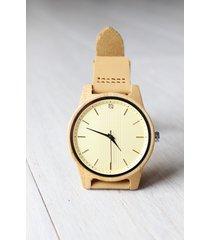 damski drewniany zegarek natural zircon