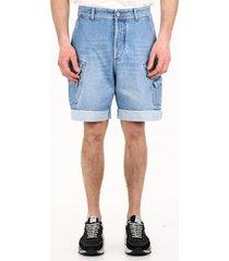 balmain denim cargo shorts