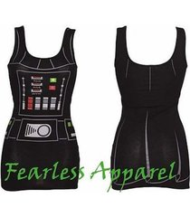 authentic star wars i am darth vader juniors costume tank tunic dress s-xxl