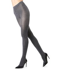 shiny cotton-blend sweater tights