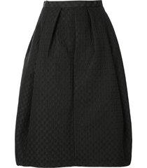 comme des garçons tricot textured midi skirt - black