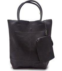 bolso con cosmetiquera color negro, talla uni