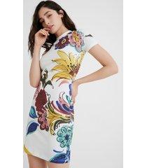 cotton pinafore dress - white - xl