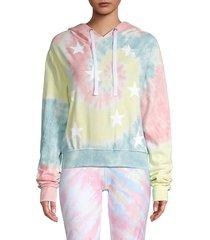 distressed stars tie-dye hoodie