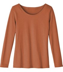 shirt met ronde hals van bio-katoen, terra 40