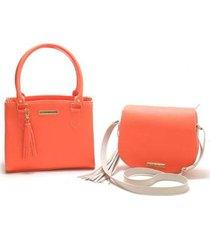 kit 2 bolsas victor valencia color feminina