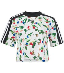 topp cropped allover print tee