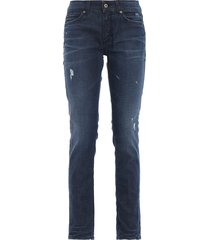 dondup gaynor skinny fit low waist jeans