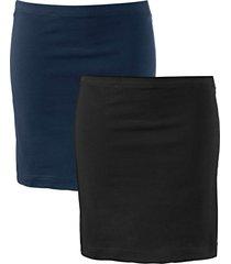 gonna in jersey elasticizzato (pacco da 2) (blu) - bpc bonprix collection
