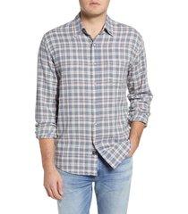 men's rails wyatt plaid button-up shirt, size medium - white