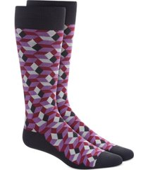 alfani men's shaded cube socks, created for macy's
