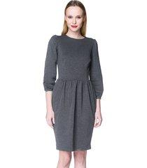 sukienka z bufkami szara